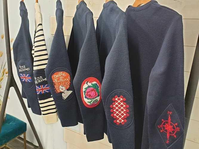 "Pull en laine mérinos - Royal mer - Marine ""Zora la rousse"" 0"