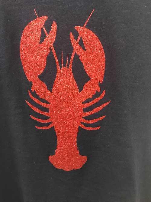 Tee-shirt en coton bio - Anouk & Ninon - ''''Homard paillettes'''' 1258807174693950473634382213241218823731353n